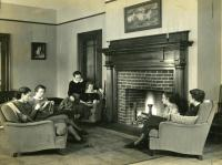 Purington Hall lounge, Farmington State Normal School, ca. 1937