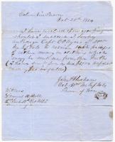 Lt. John Sheahan on intent to escape, South Carolina, 1864