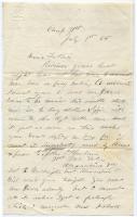 Lt. John Sheahan on need for money, Virginia, 1865