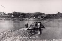 Ferry crossing between Madawaska and Edmundston, 1919