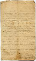 Letter seeking information on POW husband, Saco, 1864