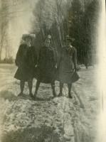 Students on a winter outing, Farmington State Normal School, ca. 1917