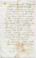 Letter seeking bounty pay, Virginia, 1864