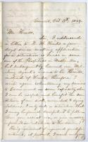 Anna Weed letter offering services as nurse, Carmel, 1864