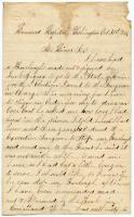 Soldier inquiry on canceled furlough, Washington, 1864