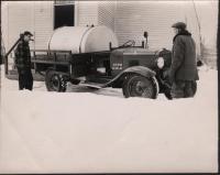 First fire truck, Surry, 1947