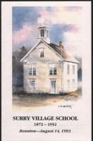 Reunion program cover, Surry Village School, 1993