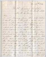 Soldier plea for pay, Maryland, 1864