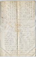 Sarah Sampson letter on illness, Bath, 1864