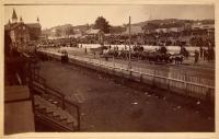 Maine State Fair procession, Lewiston, ca. 1900