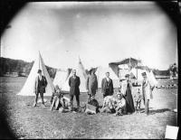 Kickapoo medicine show, Fryeburg Fair, ca. 1900