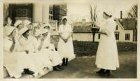 Domestic Science class, Farmington, ca. 1917