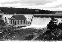 Dam along the Union River, ca. 1930