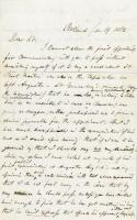 Letter opposing appointment of regimental surgeon, Portland, 1862