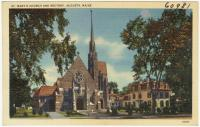 St. Mary's Church and rectory, Augusta, ca. 1935