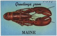 NOT IDENTIFIABLE AS MAINE Greetings from Maine, ca. 1938