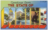 Maine publicity postcard, ca. 1935