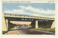 Entrance to Maine Turnpike, Kittery, ca. 1950
