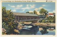 Covered Bridge over Kenduskeag Stream, Bangor, ca. 1935