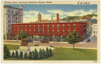 Windsor Hotel and Peirce Memorial, Bangor, ca. 1935