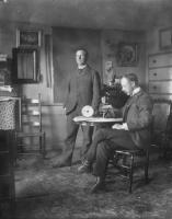 Elder Delmer Wilson and Harry Wilson, Sabbathday Lake, ca. 1905
