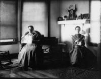 Sisters Ada S. Cummings and Lizzie Bailey, Sabbathday Lake, ca. 1915