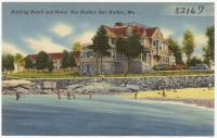 Beach at the Bar Harbor Hotel, Bar Harbor, ca. 1950