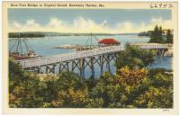 Foot bridge, Capital Island, ca. 1935