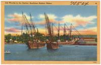 Ships in Boothbay Harbor, ca. 1938