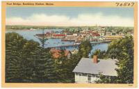 Aerial view, Boothbay Harbor, ca. 1938