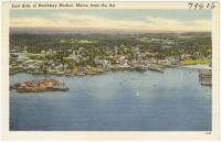 Aerial view of East Boothbay Harbor, ca. 1938