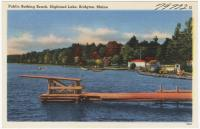 Public Bathing Beach at Highland Lake, Bridgton, ca. 1938