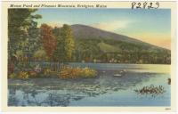 Moose Pond and Pleasant Mountain, Bridgton, ca. 1938