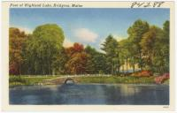 Foot of Highland Lake, Bridgton, ca. 1938