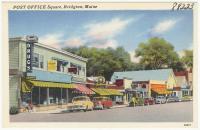 Post Office Square, Bridgton, ca. 1938