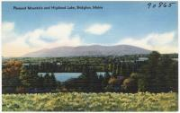 Pleasant Mountain and Highland Lake, Bridgton, ca. 1938