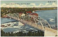 Topsham-Brunswick Bridge, Brunswick, ca. 1938