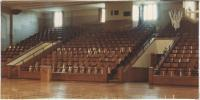 Gilman School gymnasium bleachers, Waterville, 1983