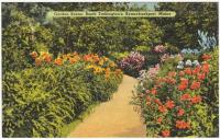 Booth Tarkington's garden, Kennebunkport, ca. 1938