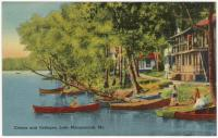 Camps and cottages on Lake Maranacook, Winthrop, ca. 1938