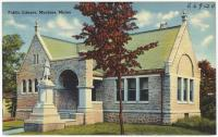 Porter Memorial Library, Machias, ca. 1935