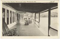 Deck of the Lake Maranacook Lodge, Winthrop, ca. 1938