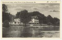 The Lodge at Lake Maranacook, Winthrop, ca. 1938