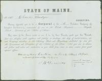 Charles Bridges promotion, Castine, 1861