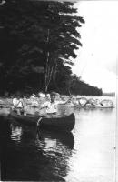 Netting the catch, Damariscotta Lake, ca. 1930