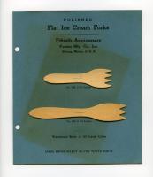 Ice cream fork samples, Forster Mfg, Co., Strong, 1947