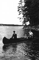 Family in a  canoe