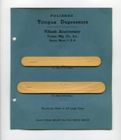 Tongue depressor samples, Forster Mfg. Co., Strong, 1947