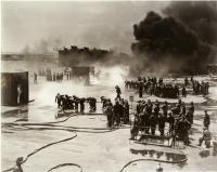 Navy firefighting school, Newport, R.I., ca. 1943