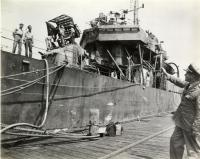 'USS Braine,' Boston Navy Yard, 1945